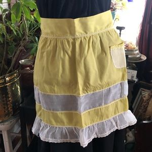 Vintage Yellow & White Apron